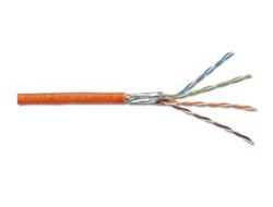 DIGITUS - Bulkkabel - 1000 m - Paare in Metallfolie (PiMf) - CAT 7 - orange