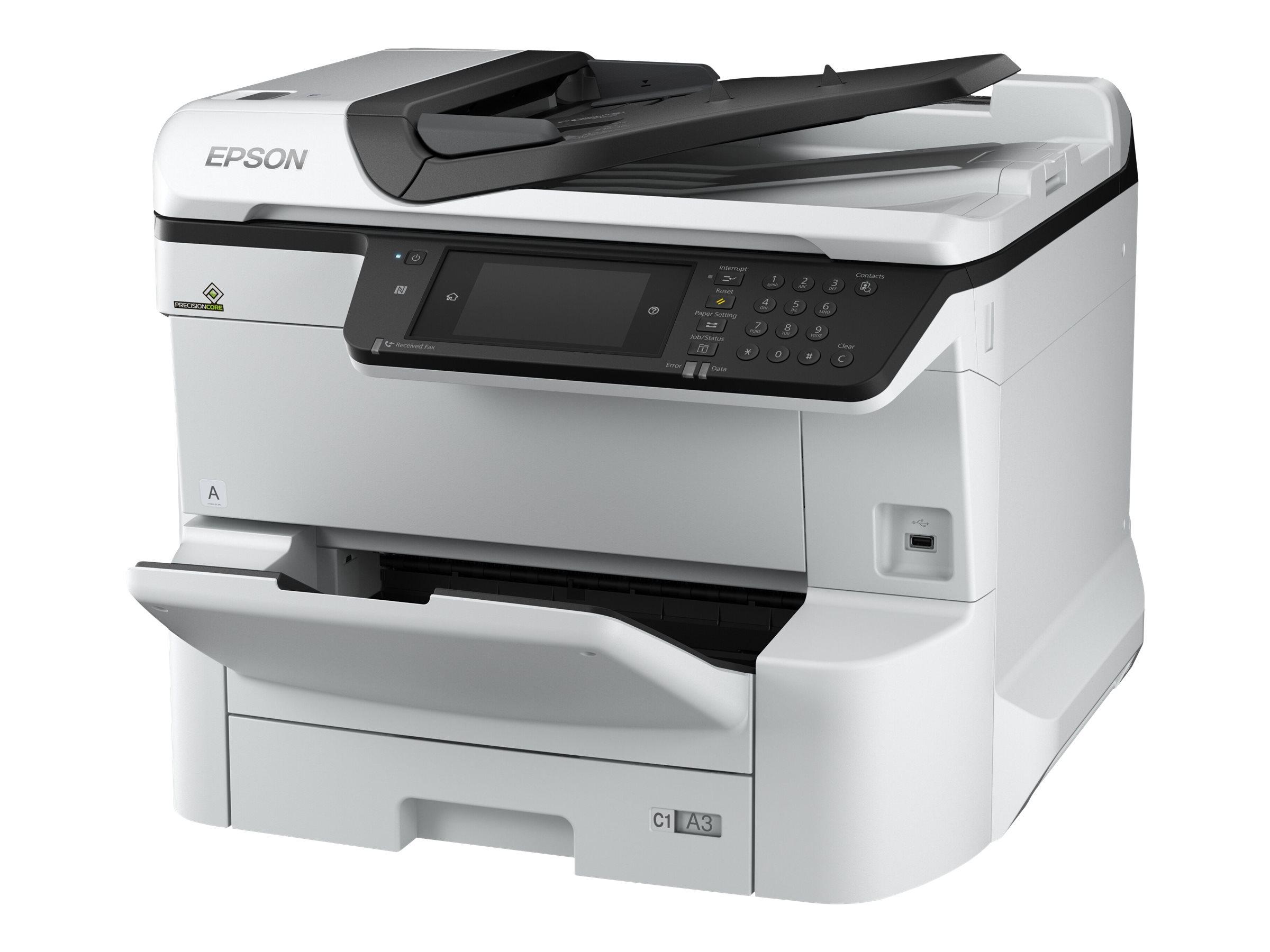 Epson WorkForce Pro WF-C8610DWF - Multifunktionsdrucker - Farbe - Tintenstrahl - A3 (297 x 420 mm) (Original) - A3 (Medien)