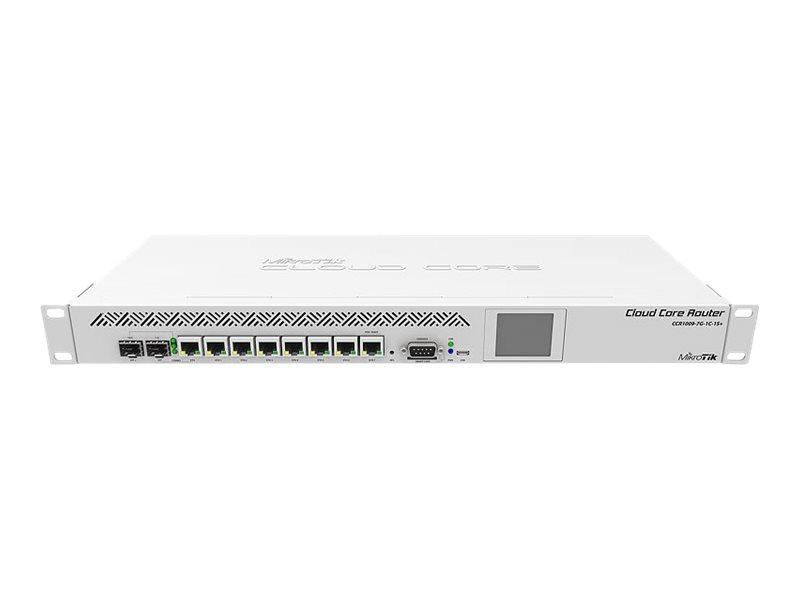 MikroTik Cloud Core Router CCR1009-7G-1C-1S+ - Router - 10 GigE - an Rack montierbar