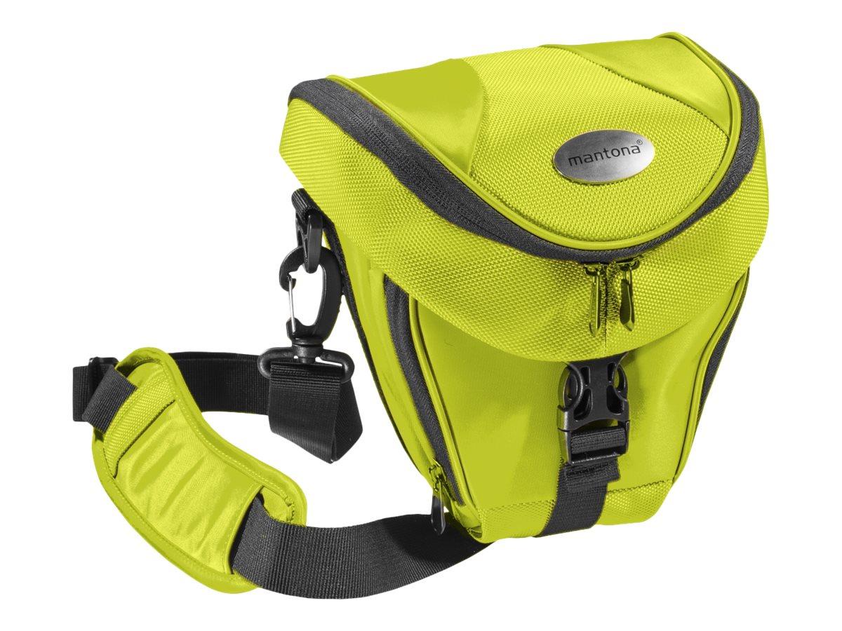 mantona Premium Colttasche - Schultertasche für Digitalkamera mit Objektiven - Polyester - Hellgrün