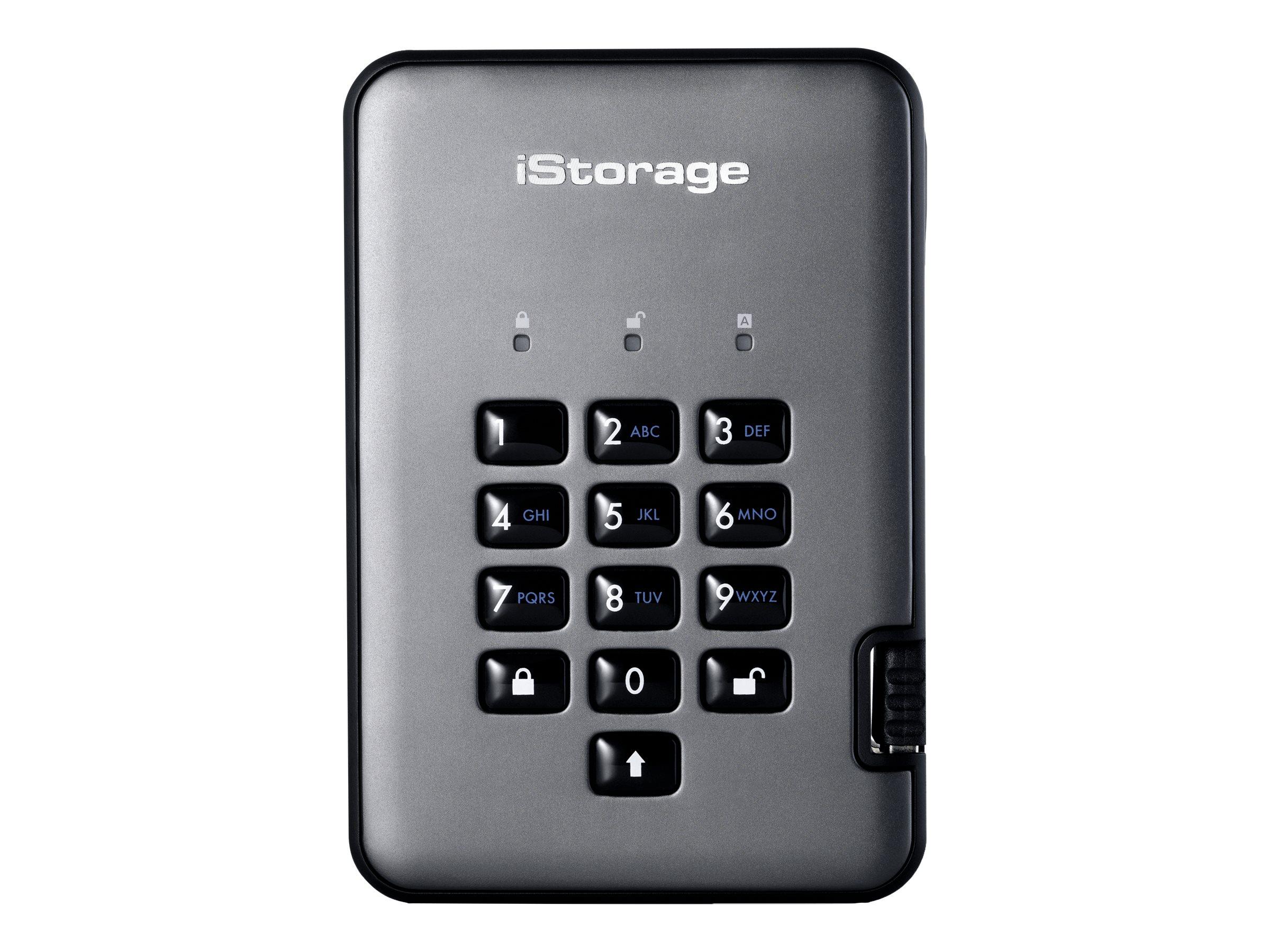 iStorage diskAshur PRO 2 - Solid-State-Disk - verschlüsselt - 4 TB - extern (tragbar) - USB 3.1