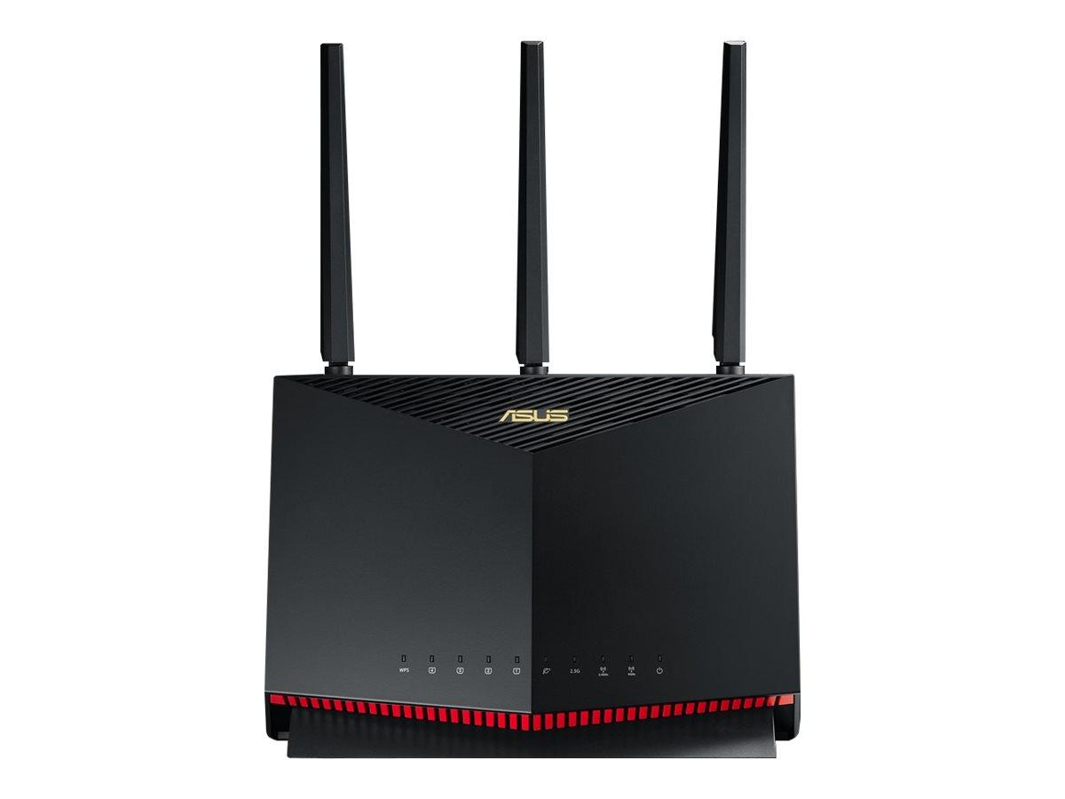 ASUS RT-AX86U - Wireless Router - 4-Port-Switch - GigE, 2.5 GigE, 802.11ax - WAN-Ports: 2 - 802.11a/b/g/n/ac/ax
