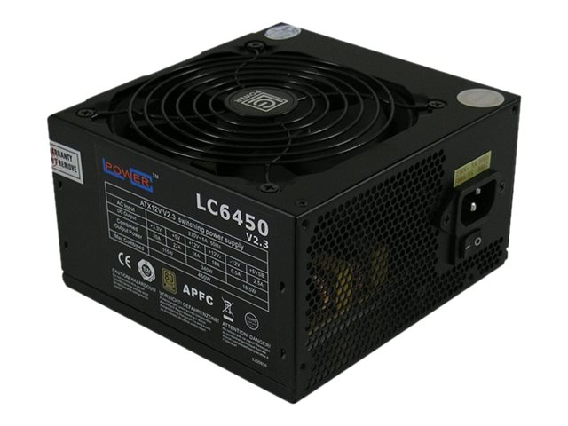 LC Power Super Silent Series LC6450 V2.3 - Stromversorgung (intern) - ATX12V 2.3 - 80 PLUS Bronze - 450 Watt - aktive PFC