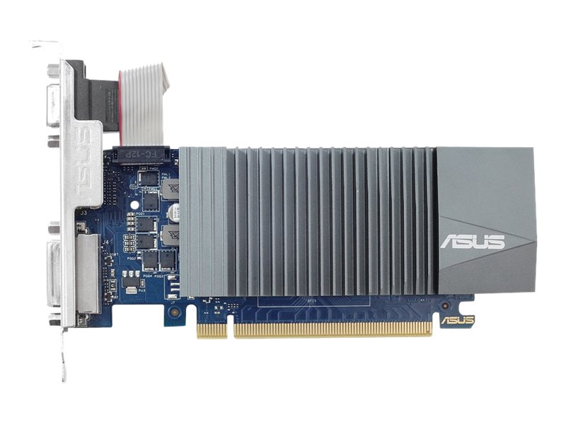 ASUS GT710-SL-1GD5-BRK - Grafikkarten - GF GT 710 - 1 GB GDDR5 - PCIe 2.0 Low-Profile - DVI, D-Sub, HDMI