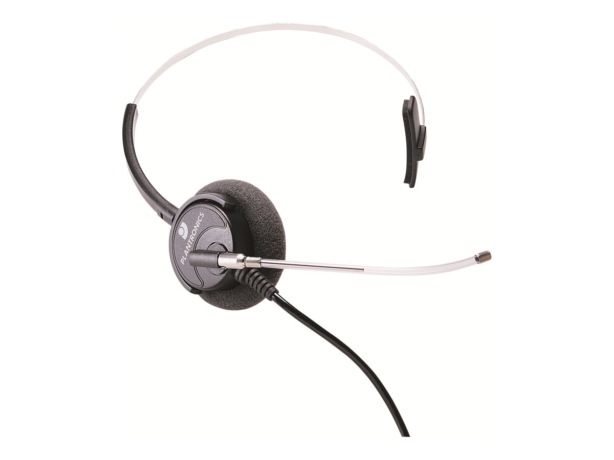 Plantronics SupraPlus HW351/A - Headset - On-Ear - kabelgebunden - Silber