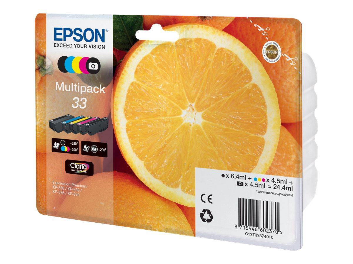 Epson 33 Multipack - 5er-Pack - Schwarz, Gelb, Cyan, Magenta, Photo schwarz - Original - Blisterverpackung - Tintenpatrone