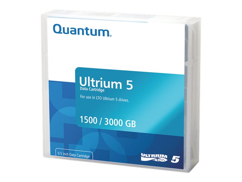 Quantum - LTO Ultrium 5 - 1.5 TB / 3 TB - Mit Strichcodeetikett