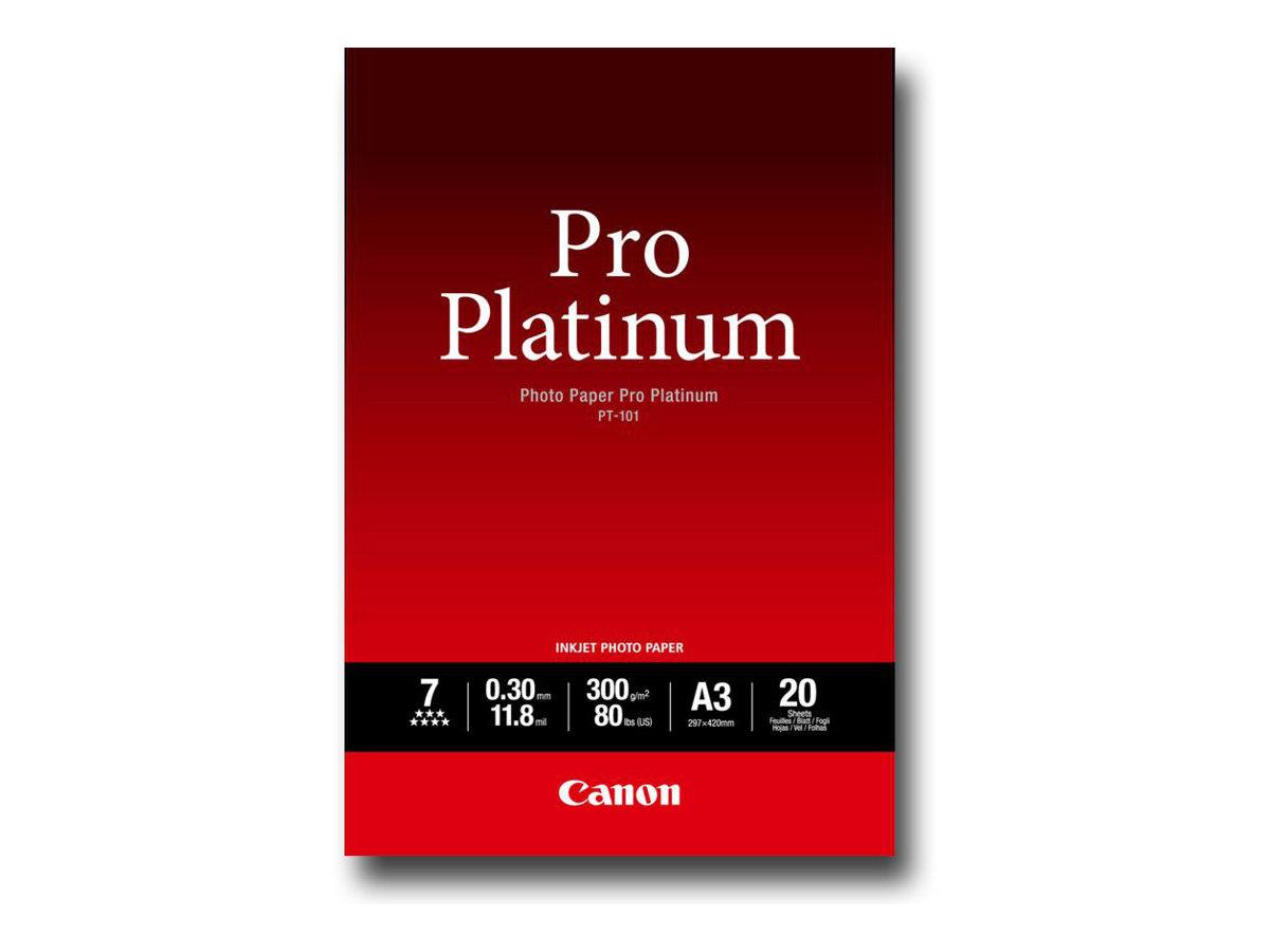 Canon Photo Paper Pro Platinum - A3 (297 x 420 mm) - 300 g/m² - 20 Blatt Fotopapier - für PIXMA Pro9000, Pro9500