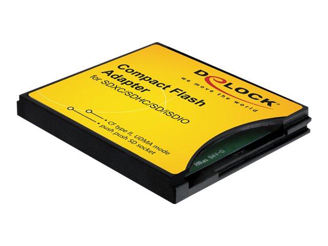 Delock Compact Flash Adapter - Kartenadapter (MMC, SD, SDHC, SDXC) - CompactFlash