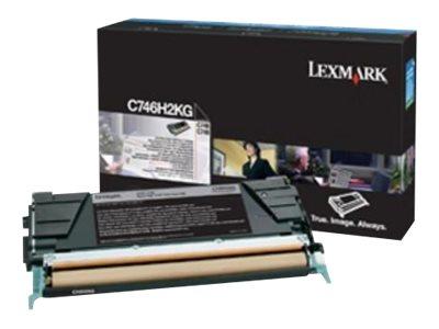 Lexmark - Schwarz - Original - Tonerpatrone Lexmark Corporate - für Lexmark C746dn, C746dtn, C746n, C748de, C748dte, C748e