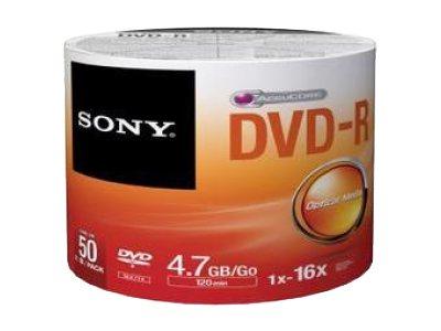 Sony 50DMR47SB - 50 x DVD-R - 4.7 GB (120 Min.) 16x - Brick