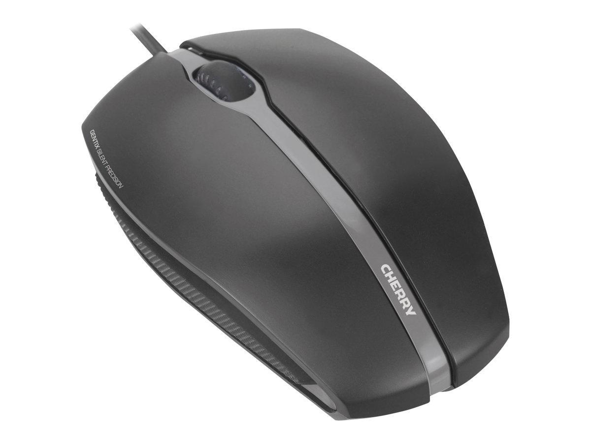 CHERRY GENTIX SILENT - Maus - optisch - 3 Tasten - kabelgebunden - USB