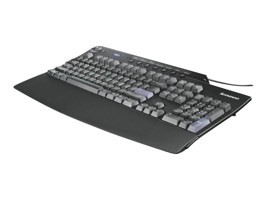 Lenovo Enhanced Performance - Tastatur - USB - USA International - Business Black - für S510; ThinkCentre M71X; M810; M900; M910
