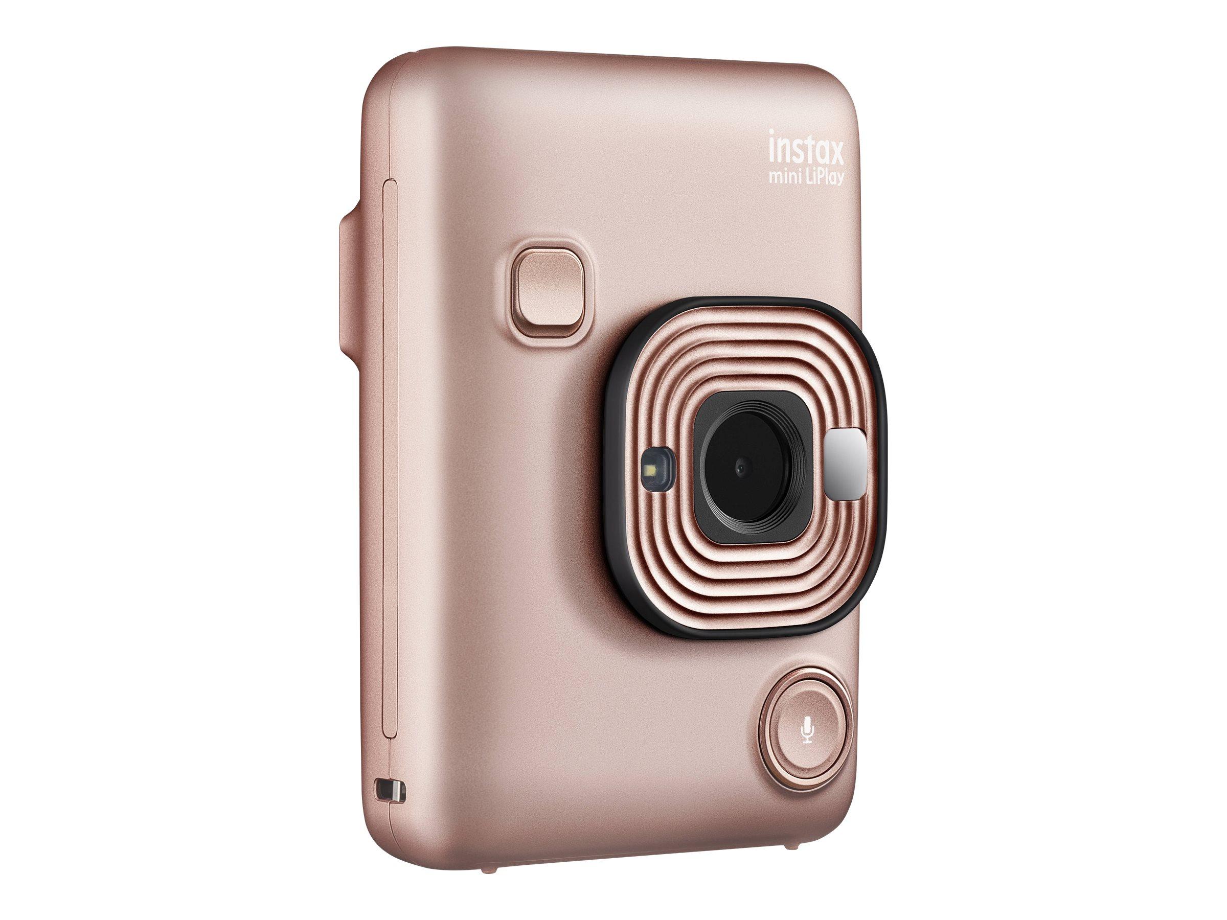 Fujifilm Instax Mini LiPlay - Digitalkamera - Kompaktkamera mit PhotoPrinter - Rotgold