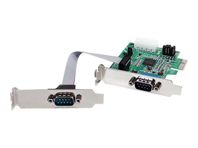 StarTech.com 2 Port Seriell RS232 PCI Express Low Profile Schnittstellenkarte mit 16950 UART - 2 Port RS-232 / DB9 PCIe LP Karte
