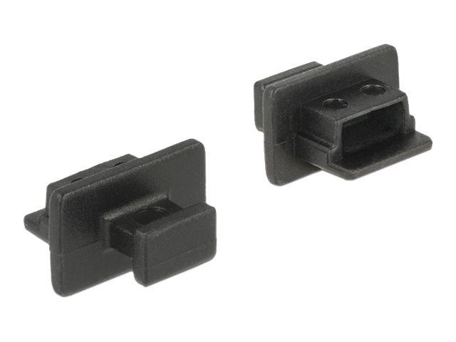 DeLOCK Dust Cover for USB 2.0 Type Mini-B Female - Schutzumschlag - Schwarz (Packung mit 10)