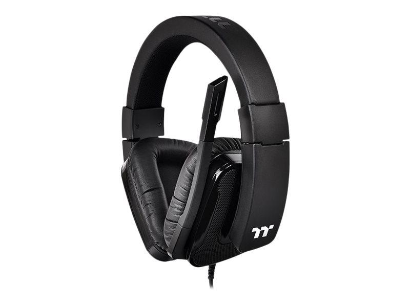 Tt eSPORTS Shock XT 7.1 - Headset - ohrumschliessend - kabelgebunden - 3,5 mm Stecker - Schwarz