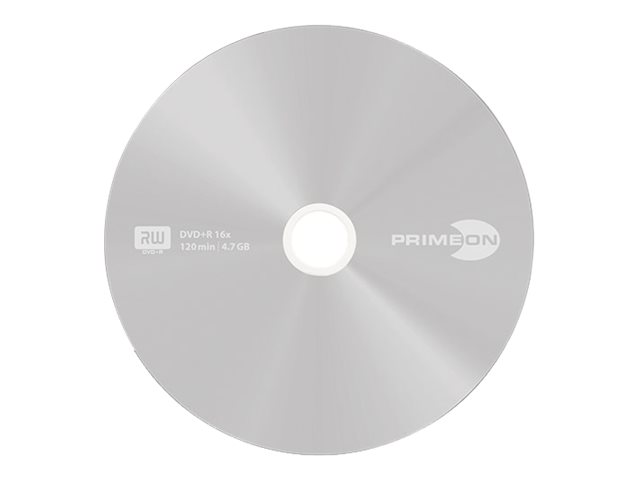 Primeon silver-protect-disc - 25 x DVD+R - 4.7 GB (120 Min.) 16x - Beschriftungsetiketten - Silber - Spindel