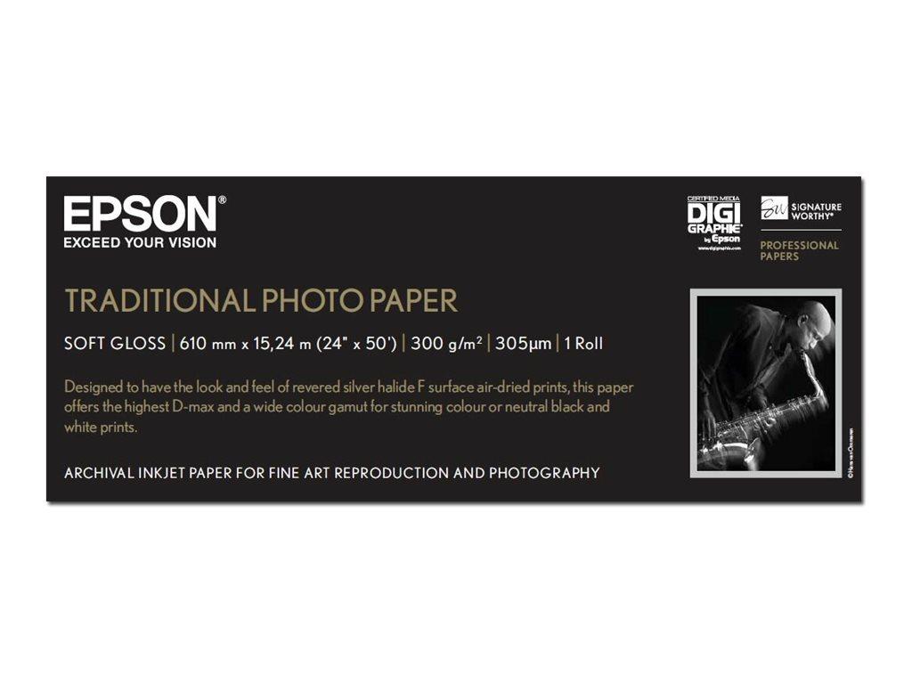 Epson Traditional Photo Paper - Rolle (61 cm x 15 m) - 300 g/m² - Fotopapier - für SureColor SC-P10000, P20000, P6000, P7000, P8