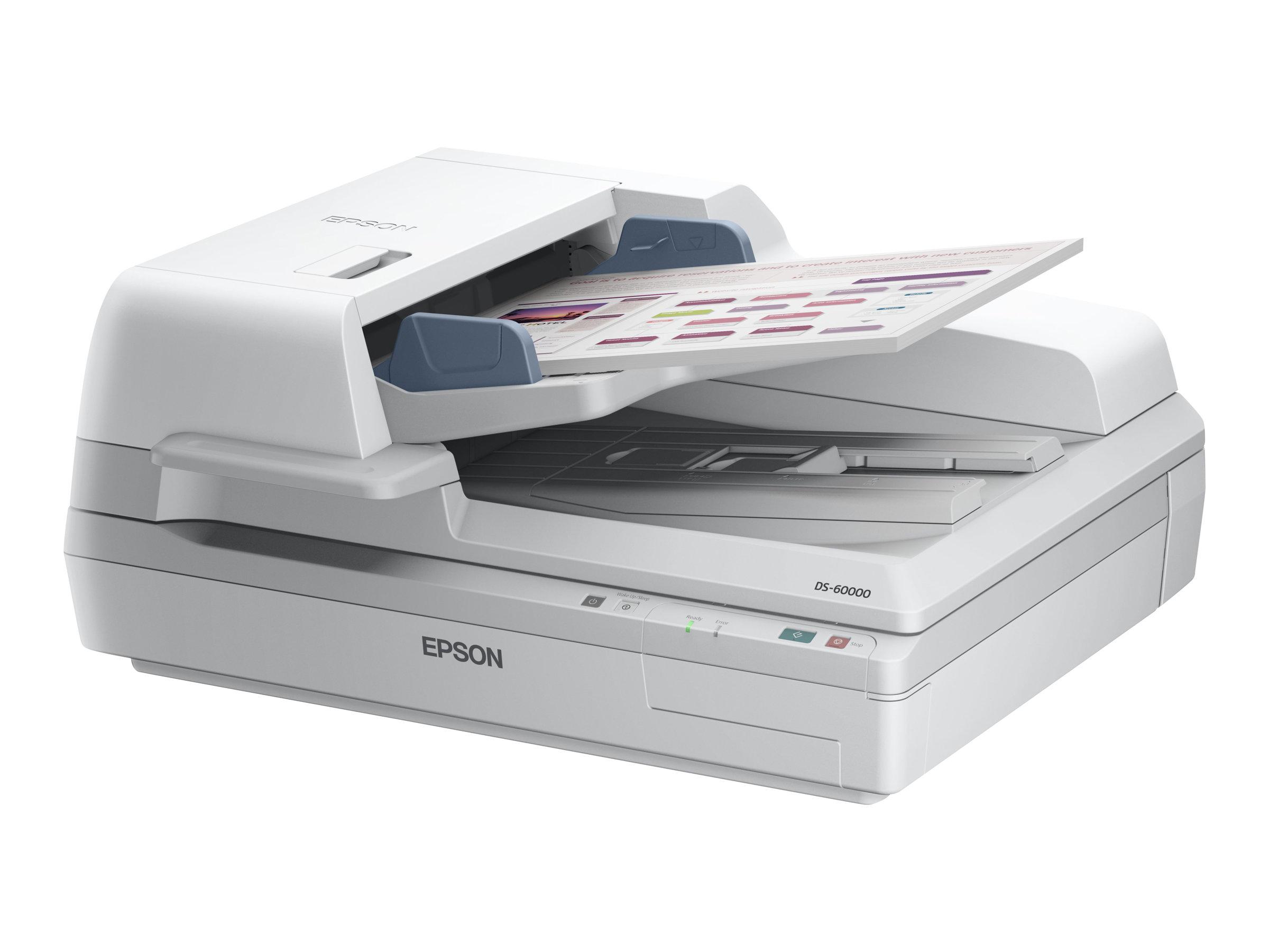 Epson WorkForce DS-60000 - Dokumentenscanner - Duplex - A3 - 600 dpi x 600 dpi - bis zu 40 Seiten/Min. (einfarbig) / bis zu 40 S