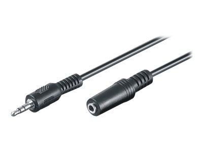 M-CAB - Audioverlängerungskabel - Stereo Mini-Klinkenstecker (M) bis Stereo Mini-Klinkenstecker (W) - 10 m - Schwarz