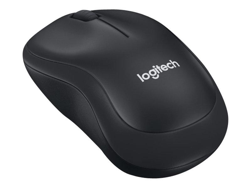 Logitech B220 Silent - Maus - optisch - 3 Tasten - kabellos - 2.4 GHz