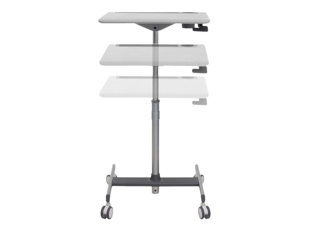 Ergotron LearnFit SE Sit-Stand Desk - Tisch - mobil - Schule - rechteckig - Medium Grey