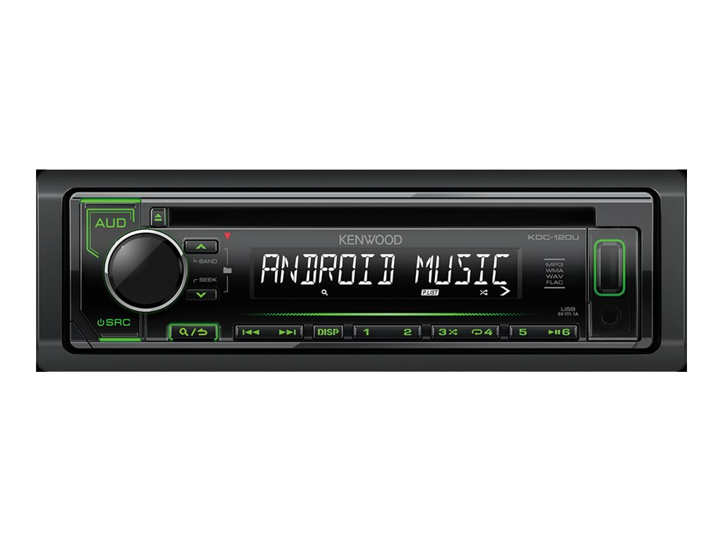 Kenwood KDC-120UG - Auto - Receiver (CD) - im Armaturenbrett - Voll-DIN - 50 Watt x 4