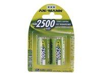 ANSMANN - Batterie 2 x C - NiMH - (wiederaufladbar) - 2500 mAh