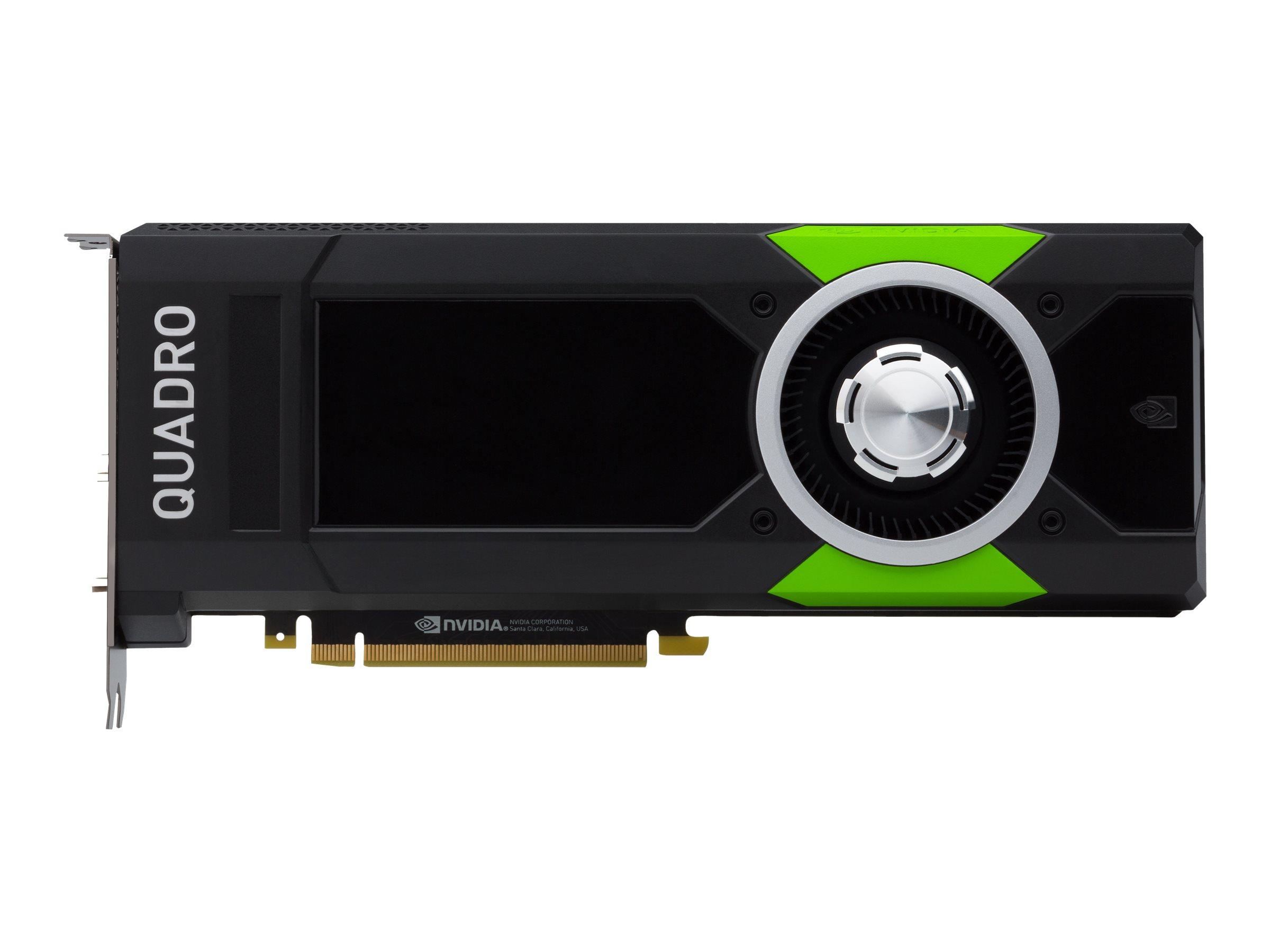 NVIDIA Quadro P5000 - Grafikkarten - Quadro P5000 - 16 GB GDDR5X - PCIe 3.0 x16 - DVI, 4 x DisplayPort