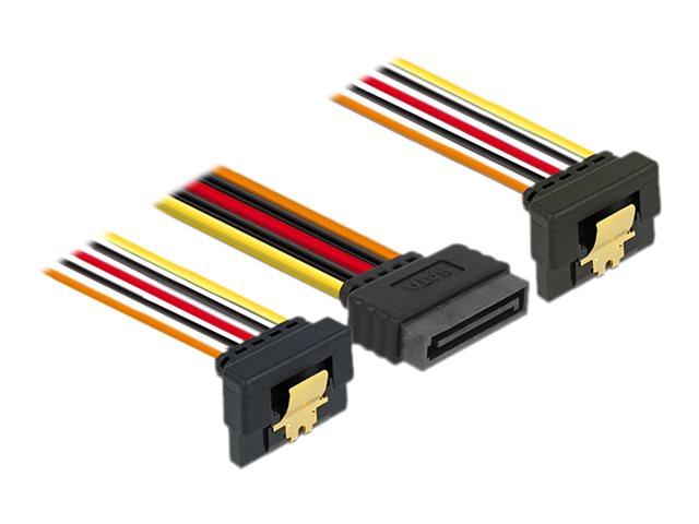 DeLOCK - Stromkabel - SATA Leistung (M) bis SATA Leistung (W) - 3.3 / 5 / 12 V - 15 cm