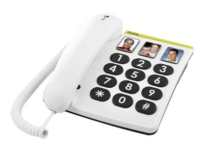 DORO PhoneEasy 331ph - Telefon mit Schnur - Grau, weiss