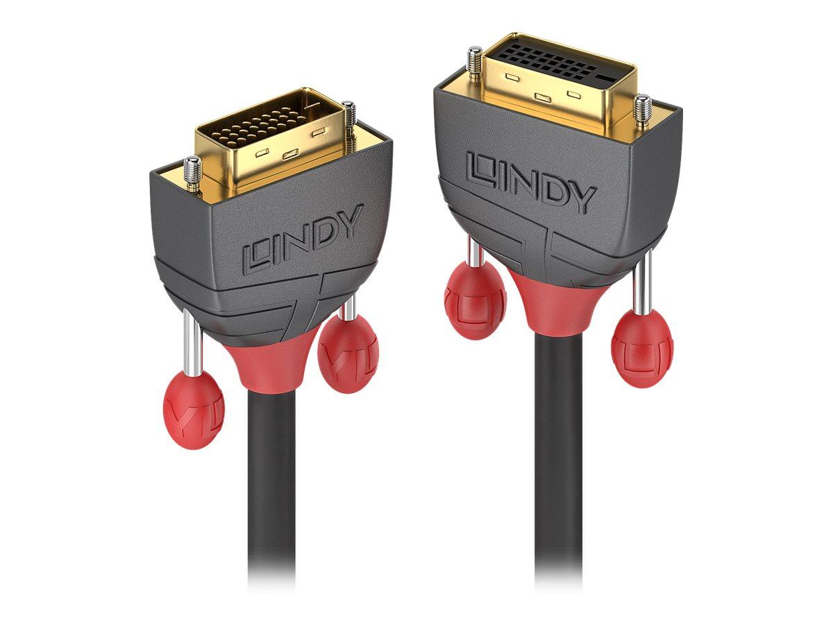Lindy Anthra Line - DVI-Verlängerungskabel - Dual Link - DVI-D (M) bis DVI-D (W) - 50 cm - Daumenschrauben