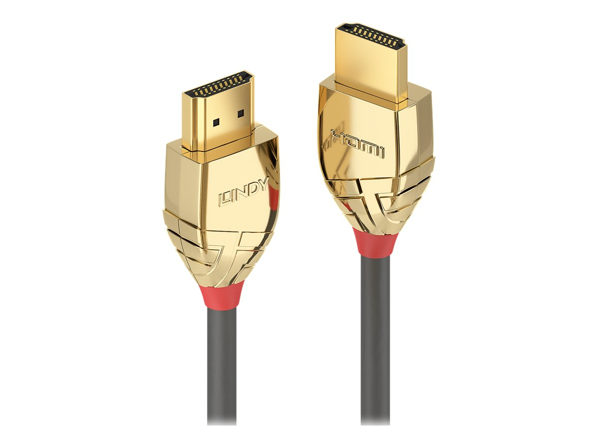 Lindy Gold Line High Speed HDMI with Ethernet - HDMI mit Ethernetkabel - HDMI (M) bis HDMI (M) - 50 cm - Dreifachisolierung - Gr