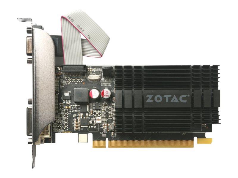 ZOTAC GeForce GT 710 - Grafikkarten - GF GT 710 - 1 GB DDR3 - PCIe 2.0 - DVI, D-Sub, HDMI