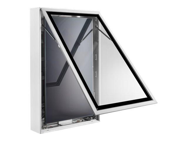 HAGOR ScreenOut Pro XL Portrait - Befestigungskit (Gehäuse für den Aussenbereich) - für LCD-Display - Aluminium, Glas - Bildschi