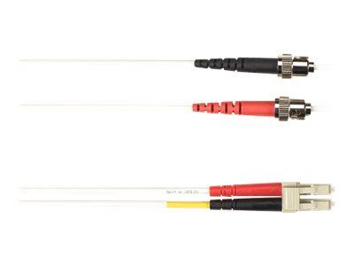 Black Box - Patch-Kabel - ST multi-mode (M) bis LC Multi-Mode (M) - 5 m - Glasfaser - weiss