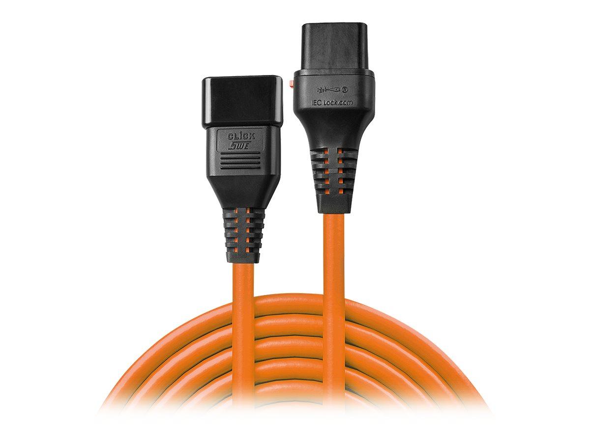 Lindy - Spannungsversorgungs-Verlängerungskabel - IEC 60320 C20 bis IEC 60320 C19 - 16 A - 2 m - geformt
