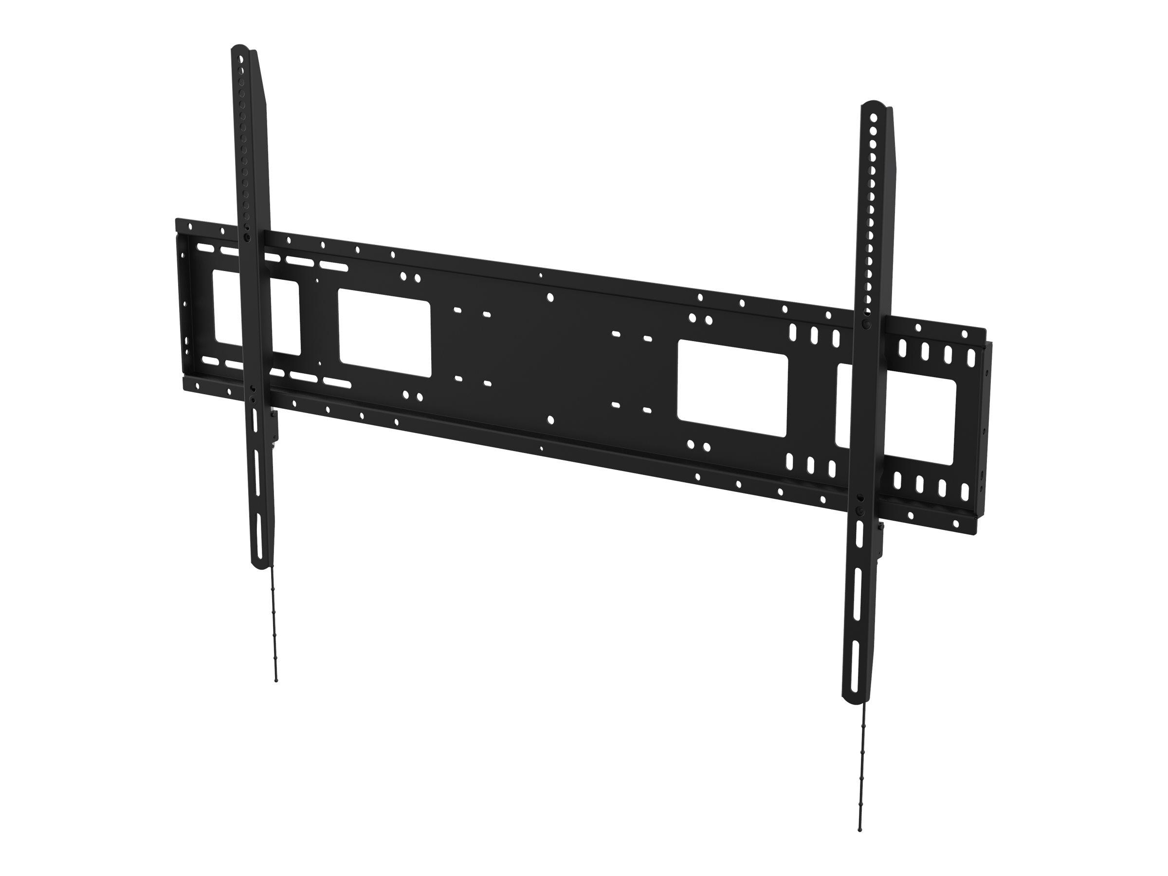 Vision VFM-W10X6 - Heavy Duty - Wandhalterung für Media Player / LCD-Display - kaltgewalzter Stahl - Schwarz - Bildschirmgrösse: