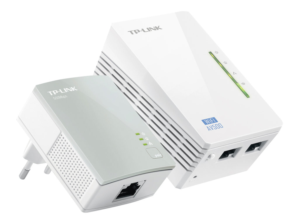 TP-Link TL-WPA4220KIT AV500 2-Port Wifi Powerline Adapter Starter Kit - Bridge - HomePlug AV (HPAV) - 802.11b/g/n - an Wandsteck