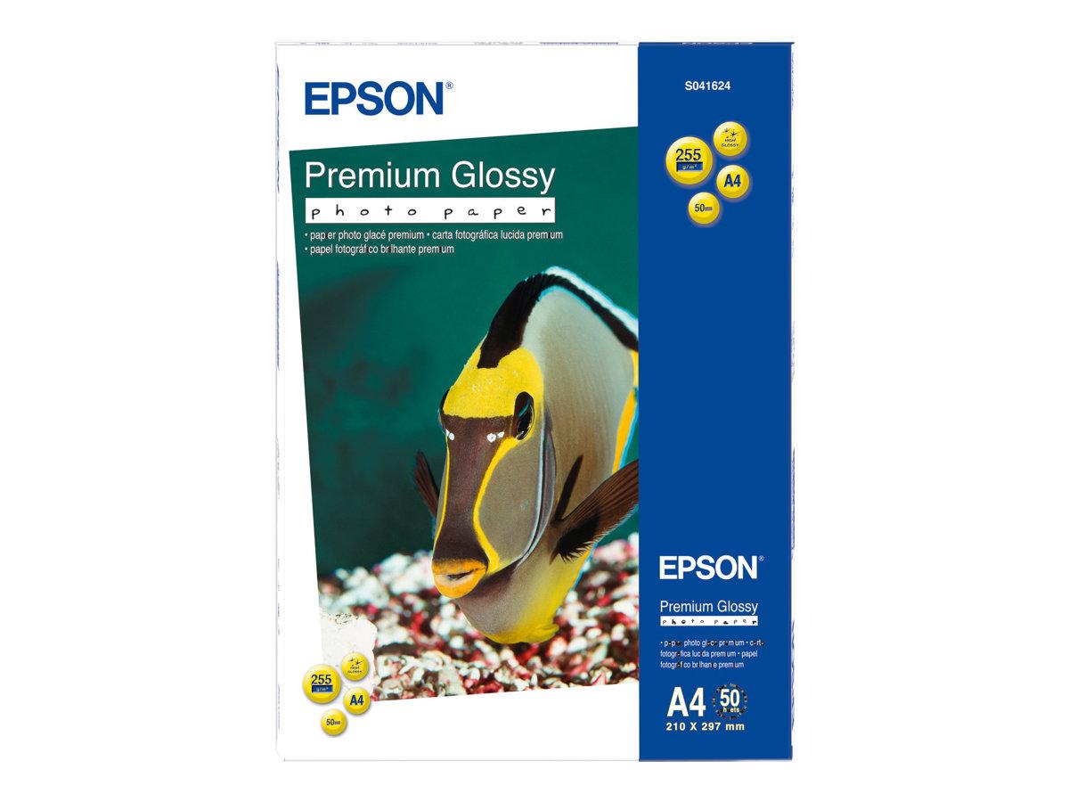 Epson Premium - Glänzend - harzbeschichtet - A4 (210 x 297 mm) - 255 g/m² - 50 Blatt Fotopapier
