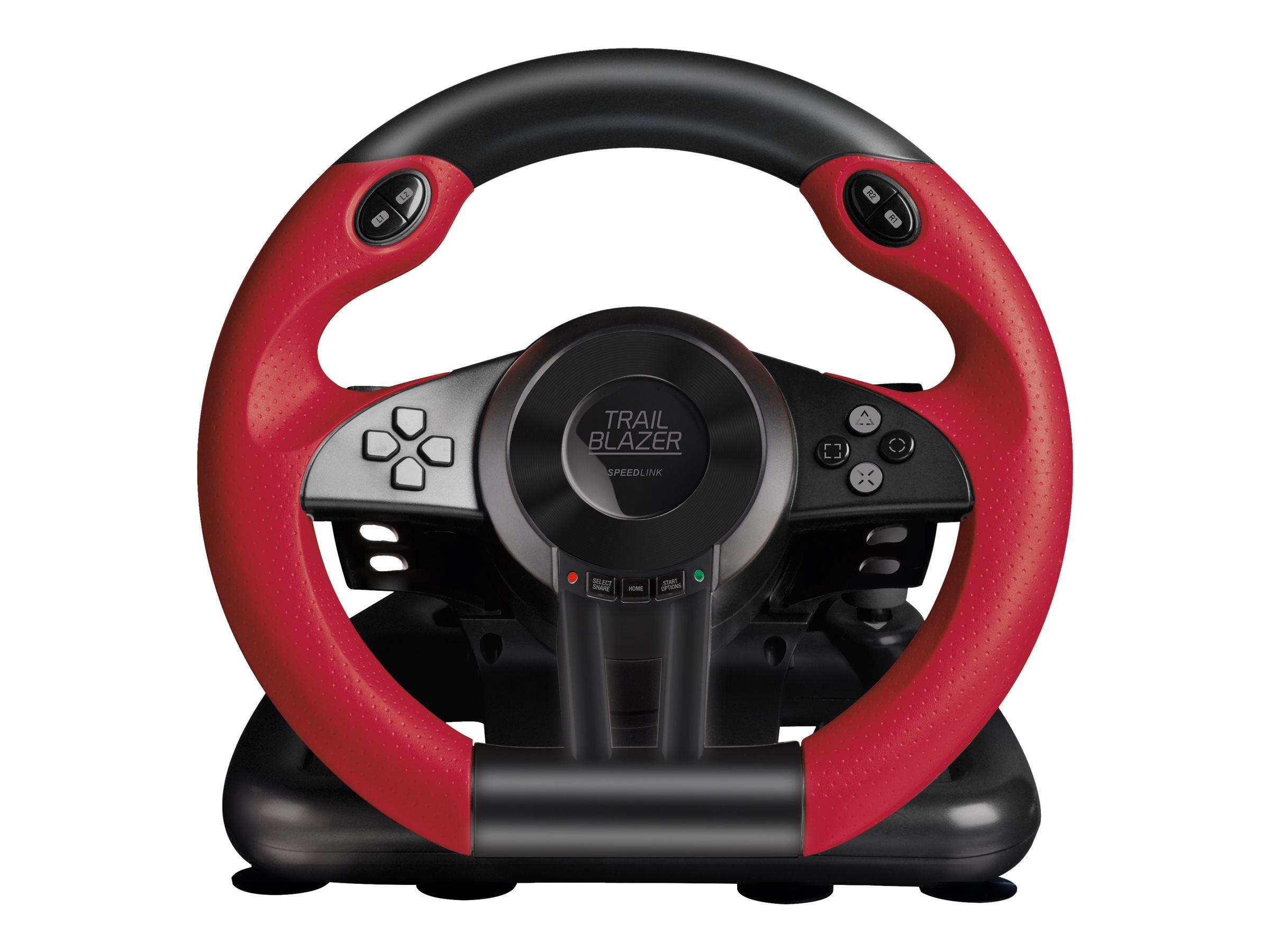 SPEEDLINK TRAILBLAZER Racing Wheel - Lenkrad- und Pedale-Set - kabelgebunden - Schwarz - für Sony PlayStation 3, Microsoft Xbox