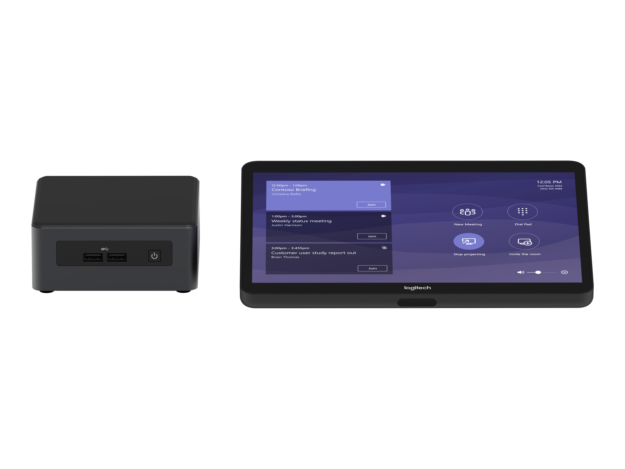 Logitech Tap for Microsoft Teams Base Model - Kit für Videokonferenzen - mit Intel NUC (Core i7), Logitech JumpStart (90 days)