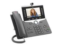 Cisco IP Phone 8865 - IP-Videotelefon - mit Digitalkamera, Bluetooth-Schnittstelle - IEEE 802.11a/b/g/n/ac (Wi-Fi) - SIP, SDP -