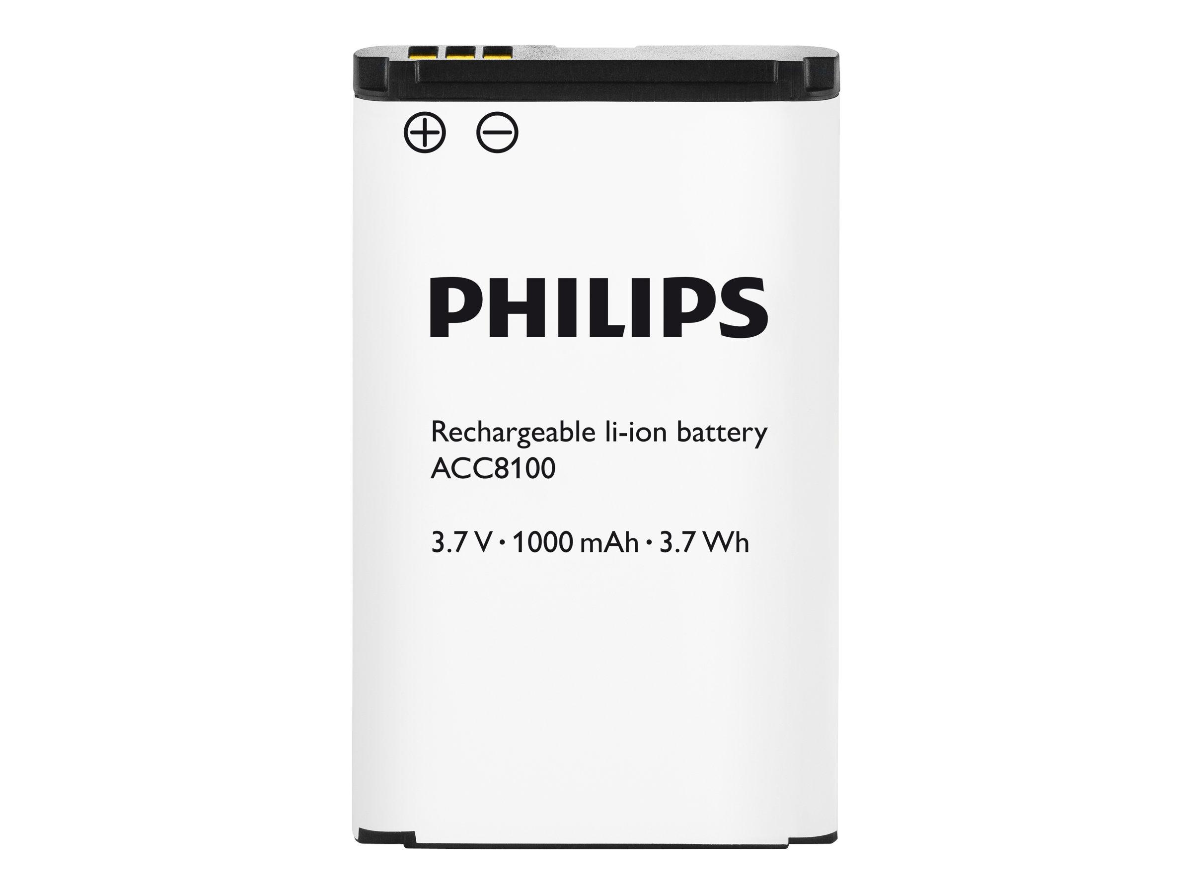 Philips ACC8100 - Batterie - Li-Ion - 1000 mAh - für Pocket Memo DPM8000