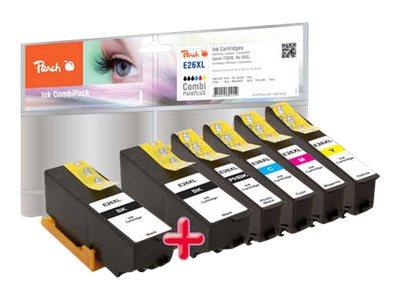 Peach Spar Pack Plus - 6er-Pack - XL-Kapazität - Schwarz, Gelb, Cyan, Magenta, Photo schwarz - Tintenpatrone (Alternative zu: Ep