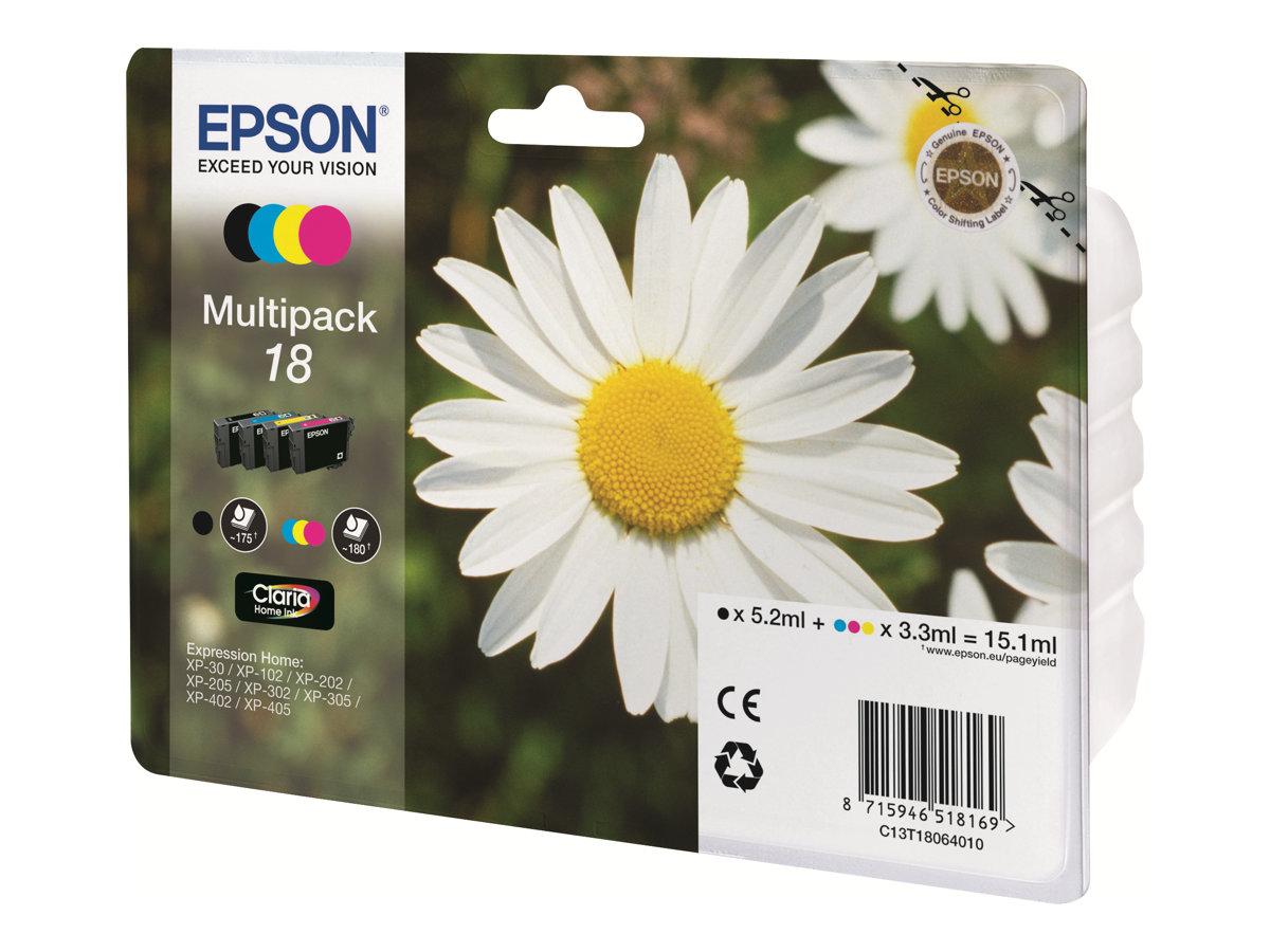 Epson 18 Multipack - 4er-Pack - Schwarz, Gelb, Cyan, Magenta - Original - Blisterverpackung - Tintenpatrone