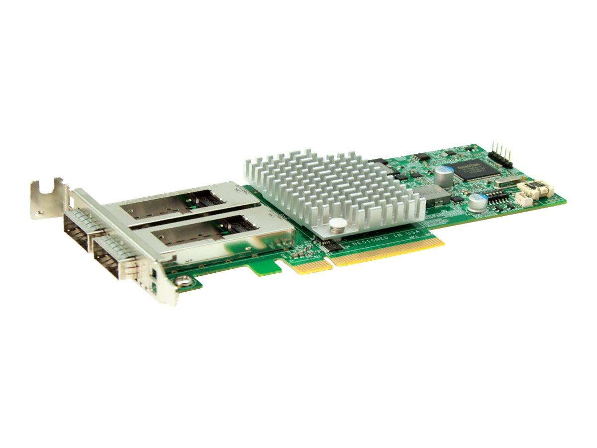 Supermicro Add-on Card AOC-S40G-i2Q - Netzwerkadapter - PCIe 3.0 x8 Low-Profile - 40 Gigabit QSFP+ x 2 - für SuperServer 1028, 2