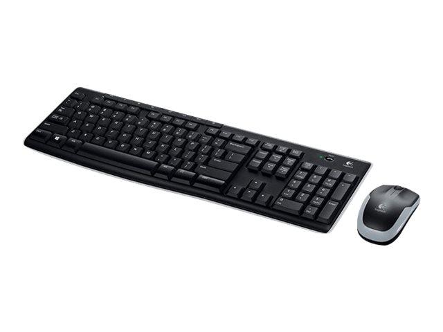Logitech MK270 Wireless Combo - Tastatur-und-Maus-Set - kabellos - 2.4 GHz - USA International