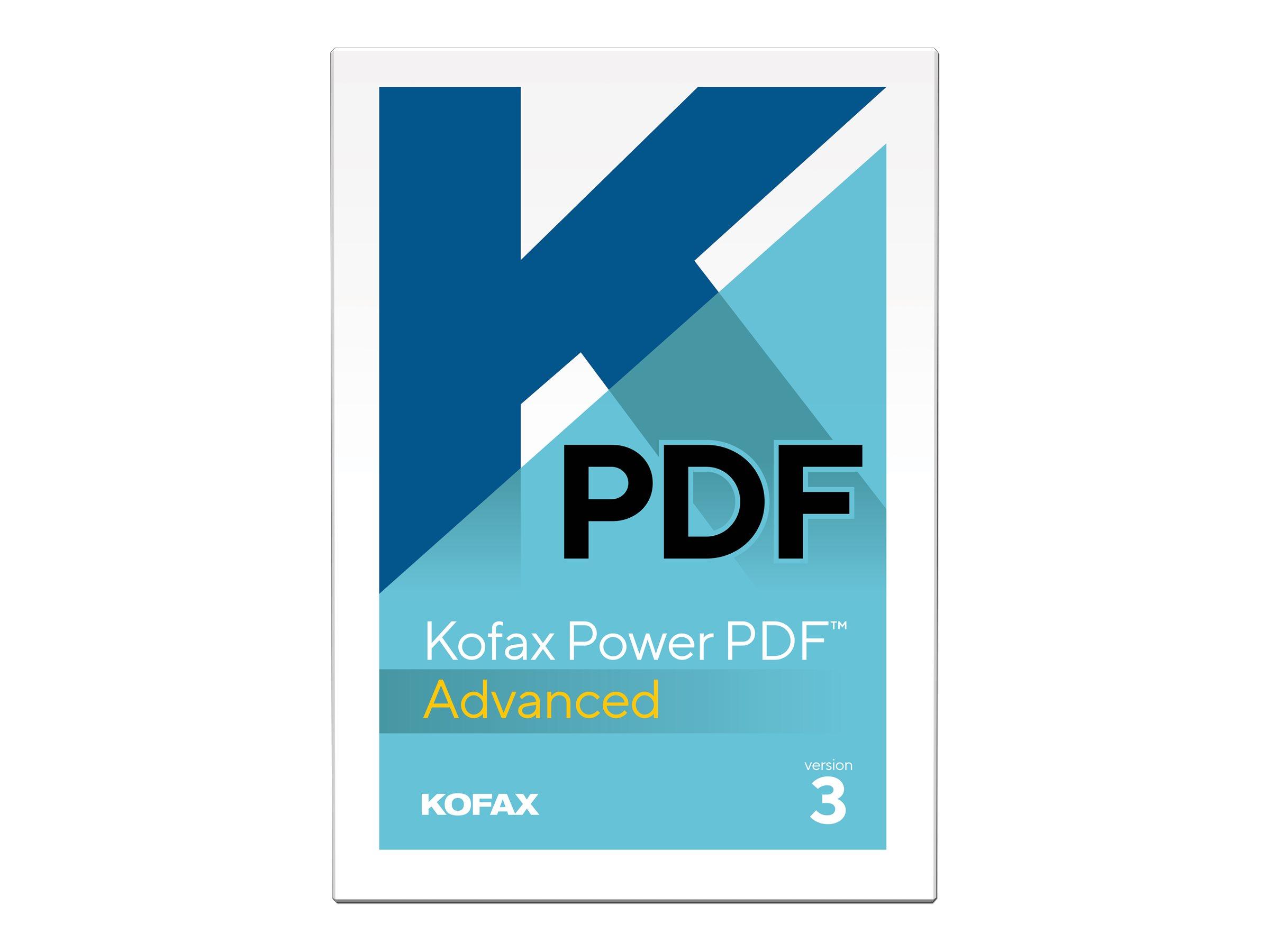 Kofax Power PDF Advanced - (v. 3) - Lizenz - 1 Benutzer - Volumen - Level J (10000+)